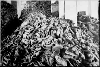 A pile of shoes from Auschwitz